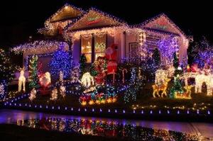 navidad casa iluminada