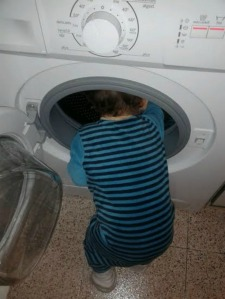 El técnico de la lavadora